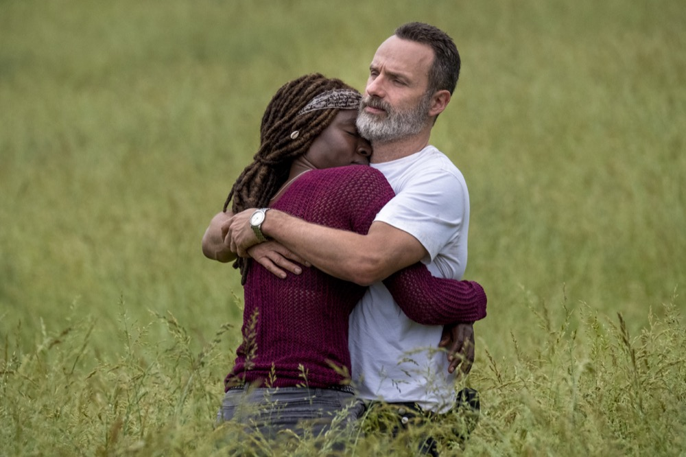 Andrew Lincoln as Rick Grimes, Danai Gurira as Michonne - The Walking Dead _ Season 9, Episode 1 - Photo Credit: Jackson Lee Davis/AMC